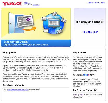 Yahoo! OpenID