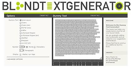 Textos automáticos para probar tus diseños