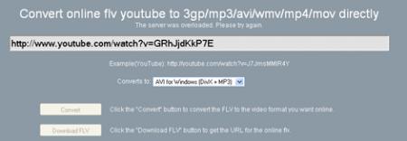 Otro servicio para convertir vídeos