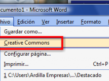 Creative Commons en Microsoft Office