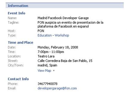 Evento FaceBook en Madrid