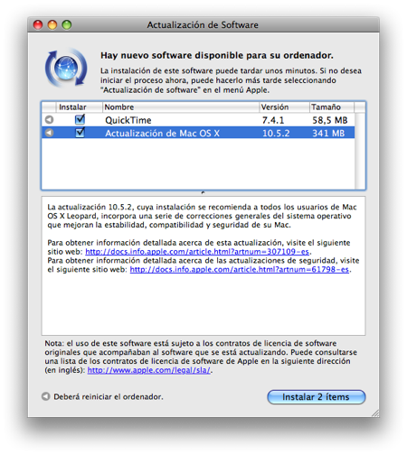MacOSX Leopard 10.5.2