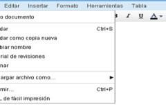 Cambios en la interfaz de Google Docs