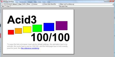 Opera llega los 100 puntos en el test Acid3