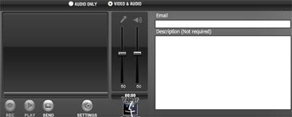 Envío rápido de audio y vídeo por email