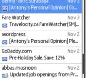 Gmail en Palm