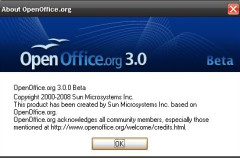 Ya disponible la primera beta de OpenOffice.org 3.0