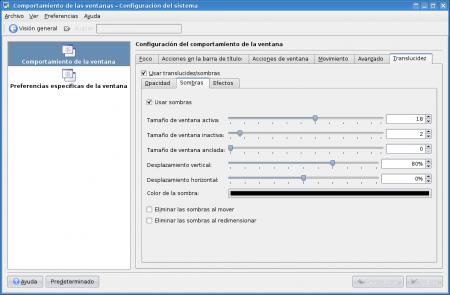 Usar sombras en KDE 3