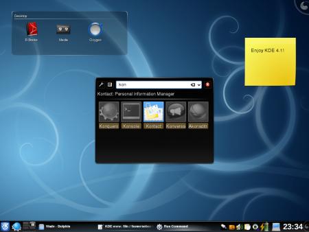 Imágenes del nuevo KDE 4