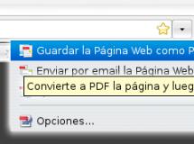 De web a PDF con Firefox