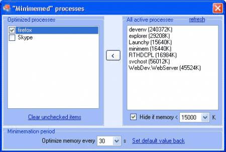 Minimem, reduciendo el consumo de memoria