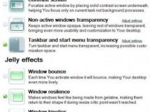 Tophaz, aplicando efectos a Windows