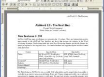 AbiWord 2.6.5, con soporte para Office 2007 y OpenOffice 3