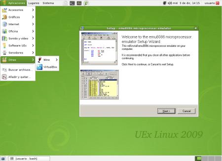 UEX Linux, distribución adaptada para universitarios