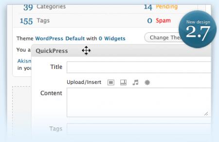 WordPress 2.7 disponible para descargar