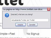 Twitlet, actualiza Twitter desde cualquier navegador