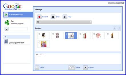 Google NoticeBoard, pizarra interactiva online