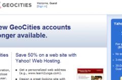 Yahoo! cierra Geocities a final de año