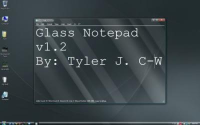 Glass Notepad, mod del Bloc de Notas