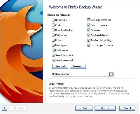Realiza una copia de seguridad de tu navegador con FavBackup