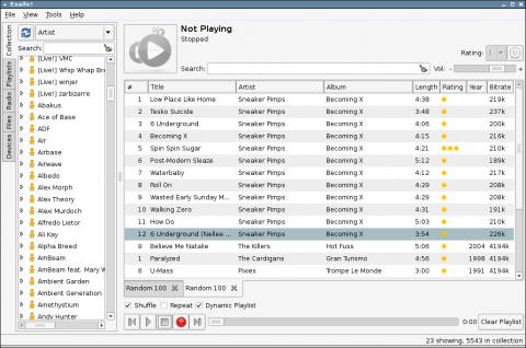Configurar tu MP3 con Exaile