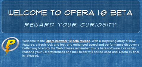 Opera 10 beta 3