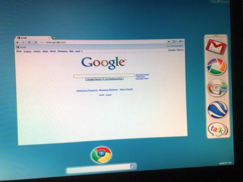 Supuestas imágenes de Google Chrome OS