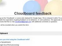 Google Cloudboard: un portapapeles online
