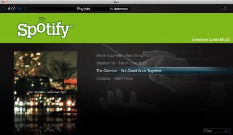 Spotify en Plex