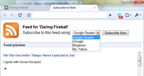 Google Chrome tendrá soporte para feeds RSS
