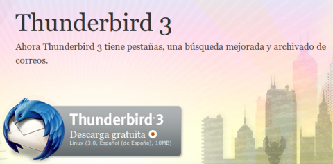 Thunderbird 3 ya está disponible para su descarga