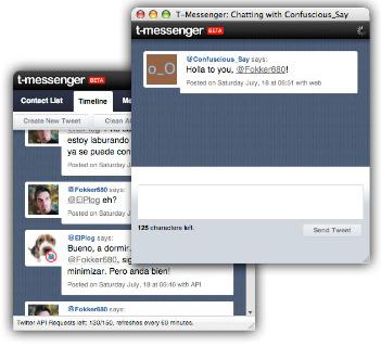 Clientes de escritorio para Twitter, Saezuri y T-Messenger,