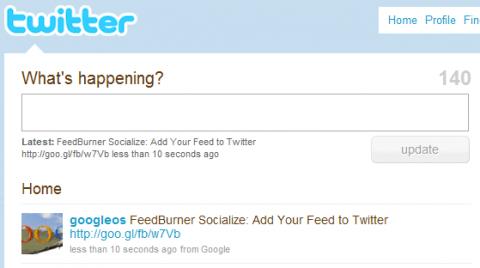 Feedburner se integra completamente con Twitter