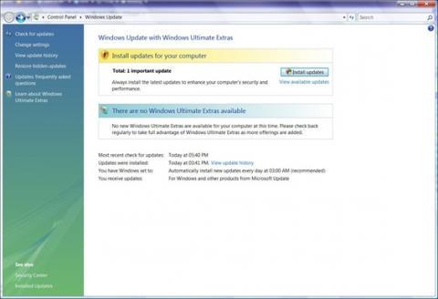 Algunos extras de Windows Vista Ultimate disponibles de manera gratuita