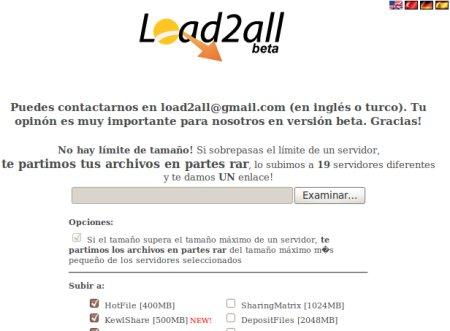 Load2all, para almacenar en varios sitios al mismo tiempo