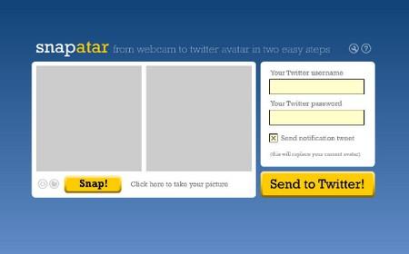 Snapatar, podrás actualizar el avatar de Twitter con la webcam
