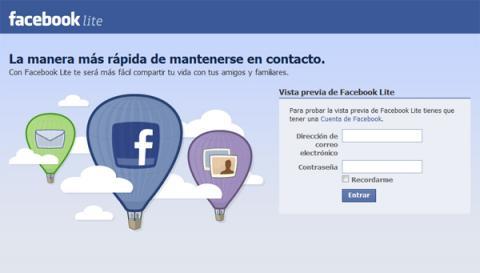 Facebook-Zero, una versión light para móviles