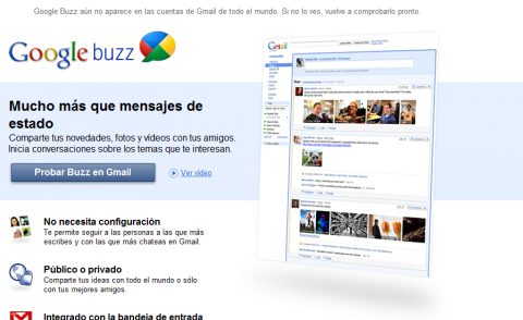 Google acerca Gmail a las redes sociales: Google Buzz