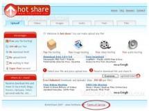 Hotshare, para compartir hasta 2GB
