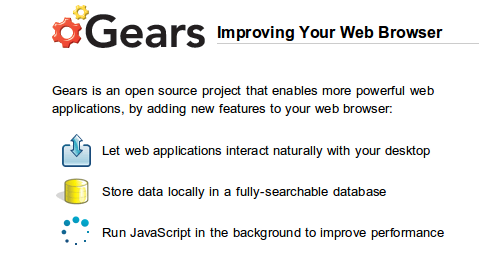 Google dice adiós a Gears y da la bienvenida al HTML5