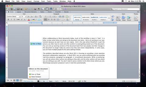 Word 2011 para MacOS X