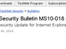 Microsoft presenta actualización de seguridad para Internet Explorer