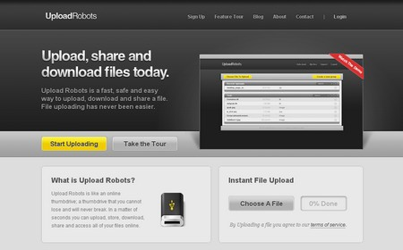UploadRobots, almacena hasta 4GB