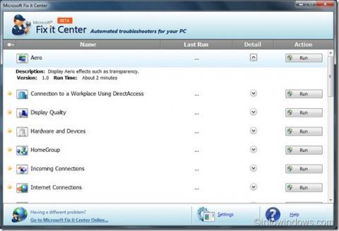 Corrige errores automáticamente en Windows con Microsoft FixIt Center