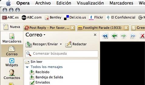 Disponible RC de Opera 10.5 para MacOS X