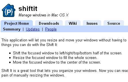 Shift it, tu Mac también puede tener Aero Snap Keys