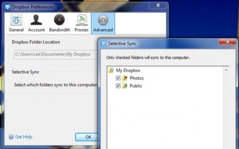 Futura versión de Dropbox permitirá actualizar sólo las carpetas seleccionadas