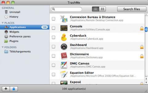 TrashMe: desinstalador de aplicaciones para Mac OS X