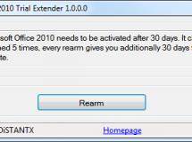 Extiende el periodo de pruebas de Office 2010 con Trial Extender