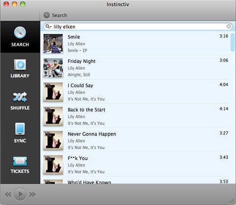 Instinctiv, o cómo mezclar música inteligentemente en Mac OS X